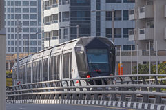 DUBAI, UAE - MAY 11, 2016: tram Royalty Free Stock Images