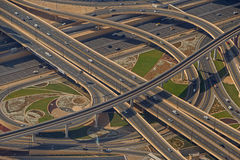 DUBAI, UAE - MAY 20, 2016: view on flyover Stock Image