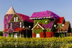 Dubai,UAE- Nov 17 2017- Miracle Garden in Dubai UAE stock photography