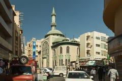 DUBAI UAE - NOVEMBER 10, 2016: Belhul moské på gamla Dubai Royaltyfri Fotografi