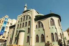 DUBAI UAE - NOVEMBER 10, 2016: Belhul moské på gamla Dubai Fotografering för Bildbyråer