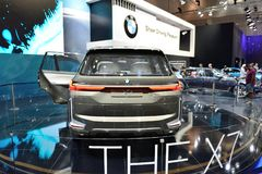 The BMW Concept X7 iPerformance is on Dubai Motor Show 2017 Royalty Free Stock Photos