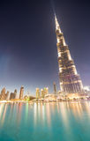 DUBAI, UAE - NOVEMBER 23, 2015: Burj Khalifa at night in Dubai, Stock Photography