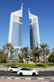 The Emirates Towers, Porsche Cayenne SUV Royalty Free Stock Photography