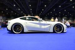 The Ferrari F12 Berlinetta sportscar is on Dubai Motor Show 2017 Royalty Free Stock Photography