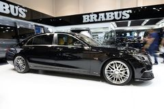 The Mercedes-Maybach S600 Brabus 900 car is on Dubai Motor Show 2017 Royalty Free Stock Images