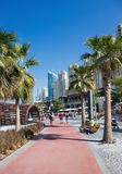 New public beach - Jumeirah Beach Residence JBR  with a 2 km pro Royalty Free Stock Images