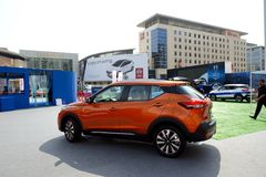 The Nissan Kicks crossover  is on Dubai Motor Show 2017 Royalty Free Stock Images