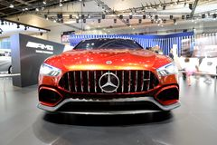 The show car Mercedes-AMG GT Concept is on Dubai Motor Show 2017 Stock Images