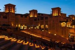 DUBAI UAE - NOVEMBER 15: Sikten av Souken Madinat Jumeirah Royaltyfria Foton