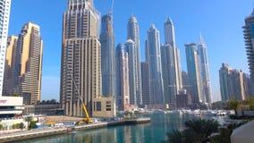 DUBAI, UAE - NOVEMBER 2018 : Skyscrapers,Dubai skyline royalty free stock photo