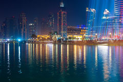 DUBAI, UAE- OCTOBER, 30, 2013: area near the Dubai Fountain Stock Image