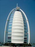 Burj Al Arab hotel in Dubai. Burj Al Arab is a luxury 7 stars hotel and one of the most luxurious in the world Royalty Free Stock Image