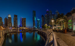 DUBAI, UAE - OCTOBER 15: Modern buildings in Dubai Marina, Dubai Stock Photo