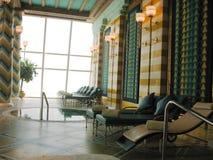 Assawan Badekurort und Fitnessstudio im arabischen Hotel Burj Als in Dubai. Stockbilder