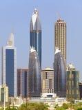 Beskåda på skyskrapor för Sheikh Zayed Väg Royaltyfri Bild