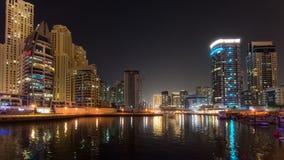 DUBAI, UAE: Rascacielos del puerto deportivo de Dubai el 29 de septiembre de 2014 Fotos de archivo libres de regalías