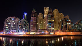 DUBAI, UAE: Rascacielos del puerto deportivo de Dubai el 29 de septiembre de 2014 Imagen de archivo libre de regalías