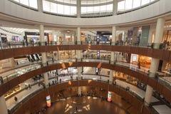 Interior of Dubai Mall, the biggest mall in the world. United Arab Emirates. DUBAI, UAE - SEPTEMBER 24 2018: interior of Dubai Mall, the biggest mall in the royalty free stock photo