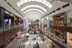 Interior of Dubai Mall, the biggest mall in the world. United Arab Emirates. DUBAI, UAE - SEPTEMBER 24 2018: interior of Dubai Mall, the biggest mall in the stock image