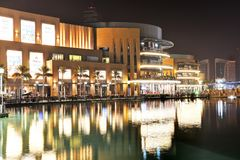 The Dubai Mall is the world`s largest shopping mall. Royalty Free Stock Photo
