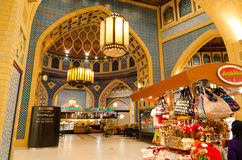Dubai, UAE, shopping de Battuta, em novembro de 2015 Fotografia de Stock