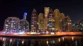DUBAI, UAE: Wolkenkratzer von Dubai-Jachthafen am 29. September 2014 Lizenzfreies Stockbild