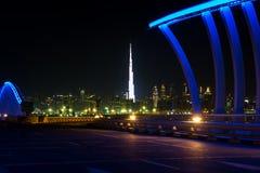 Dubai, United Arab Emirates, April 20, 2018: Downtown Dubai view stock photo