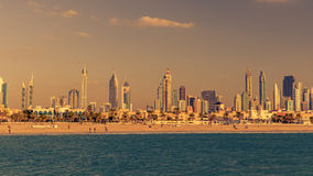 Dubai, United Arab Emirates: Downtown in the sunset Stock Photos