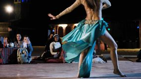 Woman Performs Belly Dance For Tourists In Bedouin Village Stock Video Footage