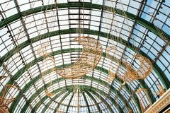 Dubai, United Arab Emirates - June 3, 2018: Interior of the Mall of the Emirates, one of the largest shopping malls in Dubai,. Dubai, United Arab Emirates - June royalty free stock photo