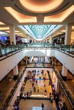 Dubai, United Arab Emirates - June 3, 2018: Interior of the Mall of the Emirates, one of the largest shopping malls in Dubai,. Dubai, United Arab Emirates - June stock image