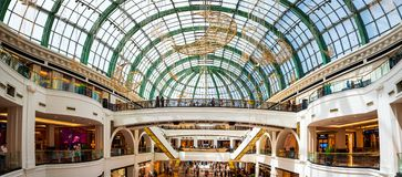 Dubai, United Arab Emirates - June 3, 2018: Interior of the Mall of the Emirates, one of the largest shopping malls in Dubai,. Dubai, United Arab Emirates - June royalty free stock photography