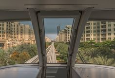 The metro system of Dubai, UAE royalty free stock images