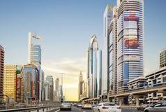 Dubai, United Arab Emirates, Sheikh Zayed Road. Royalty Free Stock Images
