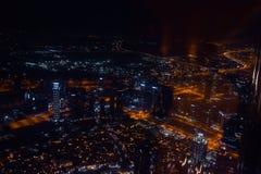 DUBAI, UNITED ARAB EMIRATES - UAE - Asia 23 APRIL 2016: Skyscrapers of City Marina at night. royalty free stock image