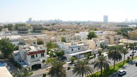 DUBAI, UNITED ARAB EMIRATES, UAE - NOVEMBER 20, 2017: city district near Hotel Jumeirah Al Qasr.  stock video