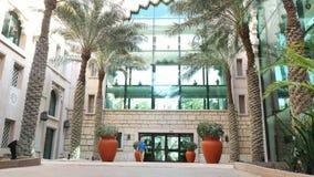 Dubai, United Arab Emirates, Uae - November 20, 2017: Hotel Jumeirah Al Qasr Madinat , baby boy runs through the hotel. Garden, he is happy stock video footage