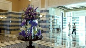 DUBAI, UNITED ARAB EMIRATES, UAE - NOVEMBER 20, 2017: Hotel Jumeirah Al Qasr Madinat, reception, main building. the