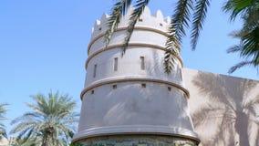 Dubai, United Arab Emirates, Uae - November 20, 2017: Hotel Jumeirah Al Qasr Madinat , walking throught the territory of. The hotel, beautiful views of stock footage