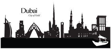 Dubai, United Arab Emirates. Vector illustration of the skyline cityscape of Dubai, United Arab Emirates Stock Photo