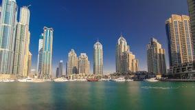 DUBAI, UNITED ARAB EMIRATES, view on Dubai Marina stock video footage