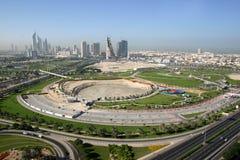 Dubai utomhus- sikt Arkivbild