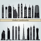 Dubai V2 gränsmärken stock illustrationer
