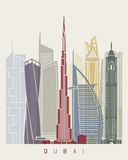 Dubai V2 horisontaffisch stock illustrationer