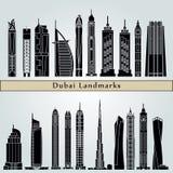 Dubai V2 Landmarks Stock Images
