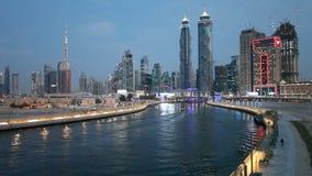 Dubai vattenkanal lager videofilmer