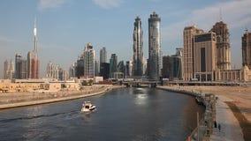 Dubai vattenkanal arkivfilmer