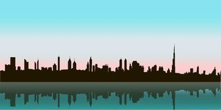 Dubai Vector Skyline Royalty Free Stock Image