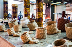 dubai Verano 2016 Desayuno en el hotel Comida fría del desayuno Arreglo de la comida del abastecimiento de la comida fría en la t Foto de archivo libre de regalías